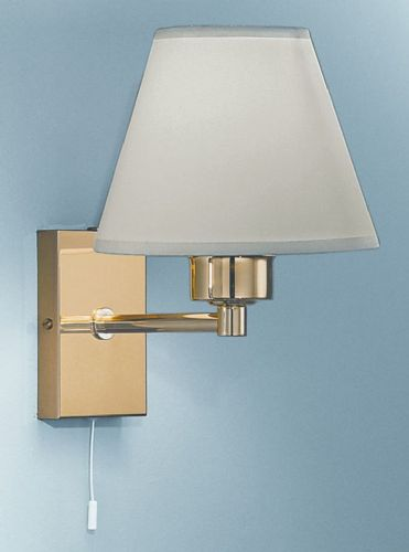 Franklite WB126/9002 Polished Brass Wall Light